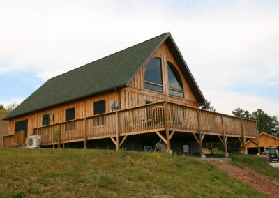 Chalet with board and baton siding 4
