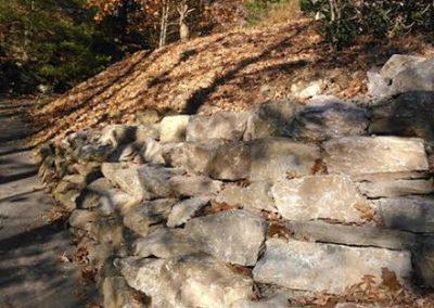 Wilson boulder wall